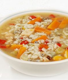 Turkey Rice Soup ... via shape.com... Turkey and brown rice immersed in soothing chicken broth is a quick way to make use of leftovers. Using frozen mixed veggies and canned low-sodium soup cuts down on prep time but still results in a mouthwatering, robust gumbo.
