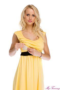 Sukienka ciążowa i do karmienia Amy żółta