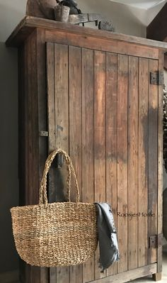 Landelijk wonen   rieten tas