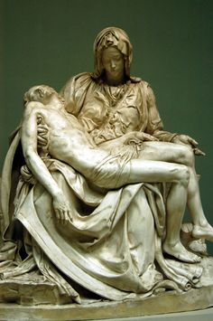 """Michaelangelo's - """"Pieta"""" - The only one of his masterpieces Michaelangelo ever sign. Housed at St. Peter's Basilica. The Vatican, Rome, ITALY"""