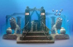 The ancient Egyptian city of Heracleion underwater of Alexandria.