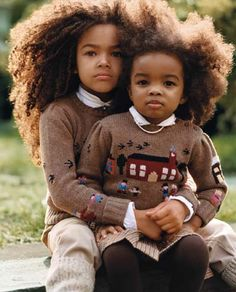 Beautiful baby boy and girl with natural hair!!...If I were to have a boy and a little girl they would look like this....