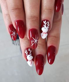 Gel Polish Bad Romance + Sugar Effect by Lena Kurach Indigo Educator #nail #nails #magicnails #magic #red #winter #christmas #rednails