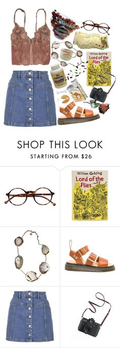 """organic"" by imagicality ❤ liked on Polyvore featuring Retrò, Olympia Le-Tan, Unearthen, Dr. Martens, Topshop, Madewell and sOUP"