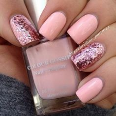 This pink glitter is so cool :)