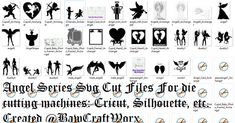 Angel Series Svg Cut Files For Die Cutting Machines Cricut Silhouette SALE 50% Off! All SVG Sets Only 5.00 Each