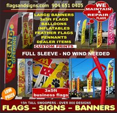 Jacksonville, FL swooper flag banner specials LOCAL DEALS : Swooper Feather Flags Signs Banners High Quality Low Price FREE SHIPPING, over 400 business slogans messages, 15ft tall, long lasting material