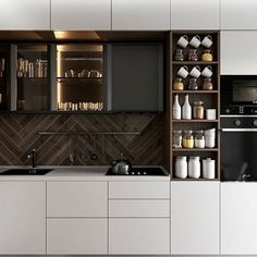 Luxury Kitchen Design, Kitchen Room Design, Home Room Design, Luxury Kitchens, Home Decor Kitchen, Interior Design Kitchen, Cool Kitchens, Kitchen Cupboard Designs, Best Kitchen Designs