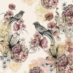 Birds by Louise Tiler - 50x50cm £30 #ArtisticBritain