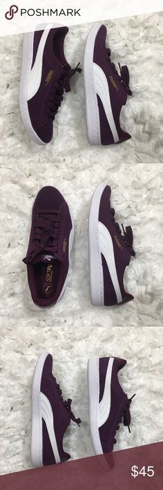 Brand New Purple Puma Suede Classics Size 7 Purple & White Puma Suede Classics  Size 7  Brand New, Never Worn  Does not come with original box Puma Shoes Athletic Shoes