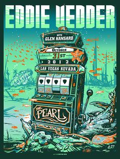 INSIDE THE ROCK POSTER FRAME BLOG: Munk One Eddie Vedder Las Vegas Poster Release Details