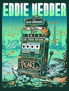INSIDE THE ROCK POSTER FRAME BLOG: Munk One Eddie Vedder Las Vegas Poster Release Details