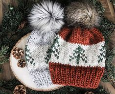 Welcome to the Evergreen Beanie! Perfect for any outdoor enthusiast. Knitting Terms, Loom Knitting, Knitting Projects, Baby Knitting, Crochet Projects, Knitting Patterns, Crochet Patterns, Hat Patterns, Free Knitting