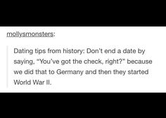 History tips for dating. Muy importante