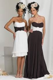 Black and white older bridesmaids
