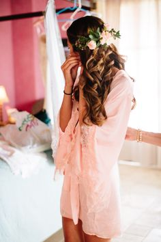 Bridal hair. Floral hair comb. Half flower crown with flowers only in back and slightly on the sides.