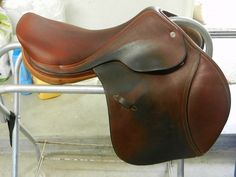 16.5 Hermes Allure Jumping Saddle Great Condition from BitsAndBridles.com