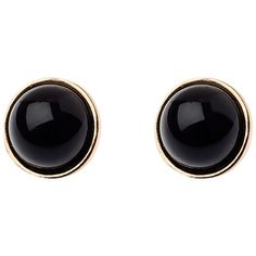 Adele Marie Faux Pearl Earrings , Black/Gold (94 ILS) ❤ liked on Polyvore featuring jewelry, earrings, accessories, black, brincos, faux pearl earrings, gold jewelry, gold jewellery, earring jewelry and fake pearl jewelry