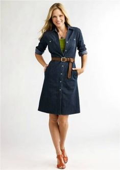 825a18cf589 denim shirt dress  great for casual Friday Denim Dresses