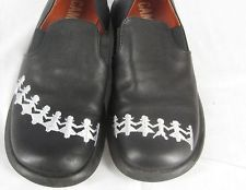 Camper Twins Simple Paper doll Black Leather Flats 37 US 7 M $49.00