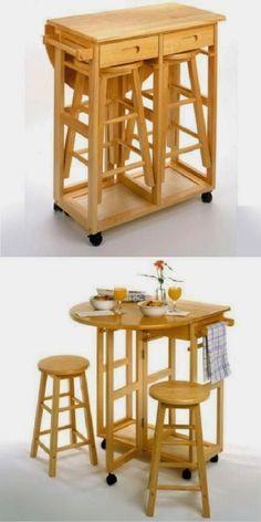 ideas para ahorrar espacio en la cocina 7                              …