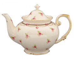 Gracie China Pink Petite Fleur Porcelain 3-Cup Tea Pot: Kitchen