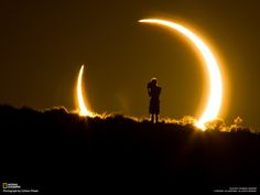 arsetculture:    Amazing photo of the recent eclipse by Colleen Pinski