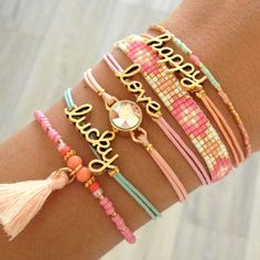 Feel Good Bracelets - Lucky, Love, Happy - Mint15 | www.mint15.nl