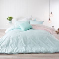 Maze Quilt Cover Set | Pillow Talk (pink and blue?)