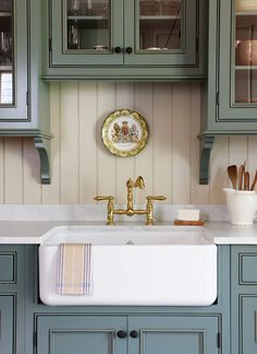 Exceptional diy home decor are available on our web pages. Have a look and you wont be sorry you did. Rustic Kitchen Island, Rustic Kitchen Cabinets, Farmhouse Sink Kitchen, Rustic Kitchen Decor, Painting Kitchen Cabinets, Country Kitchen, Kitchen And Bath, Devol Kitchens, Home Kitchens