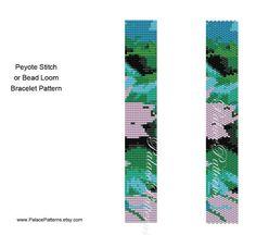 Freeform Bracelet Pattern pp76 Bead Loom and Peyote Stitch