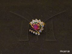 FR-247-39 || MULTI TRIANGLE PLATTED FLOWER FUSION RINGS