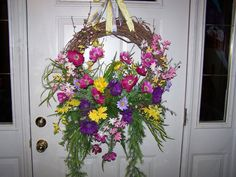 FLOWER GARDEN WREATH Spring Easter by CustomFloralDesigns on Etsy, $89.95