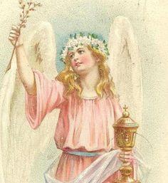Stunning Pink Angel on F G Temme Vintage Easter by TheOldBarnDoor, $5.00