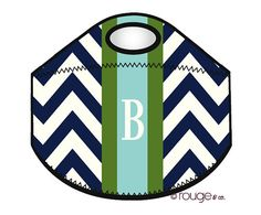 monogrammed lunch cooler  PREPPY   insulated zipper by rougeandco, $40.00