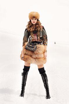Eniko Mihalik shot by Terry Richardson    - HarpersBAZAAR.com