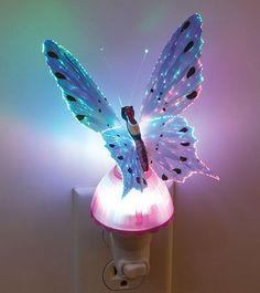 Amazon.com: Butterfly Optic Fiber Color Changing Night Light Show - Purple: Home Improvement