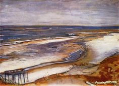 Beach Landscape Artwork by Max Beckmann Hand-painted and Art Prints on canvas for sale,you can custom the size and frame