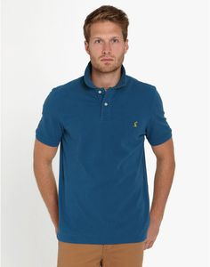 Joules Woody Classic Classic Fit Polo in blu navy francese