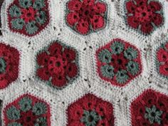 african flowers blanket WIP   Flickr - Photo Sharing!