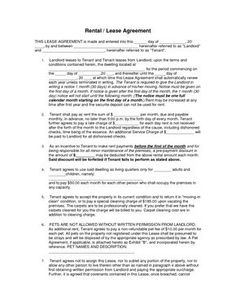 Free Commercial Property Lease Agreement Residential Lease Agreement Template  Furnished Apartment .