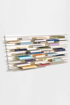 One great way to fit more bookshelves in a small space.