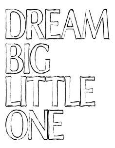Dream Big Free Printable at theDIYvillage.com