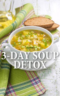 Dr Oz: 3-Day Souping Detox + Breakfast Berry Soup & Vegetable Base