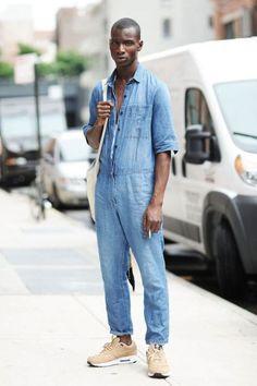 Fashion Moda, Fashion Week, Mens Fashion, Street Fashion, Men Street, Street Wear, Salopette Jeans, Moda Blog, Boiler Suit