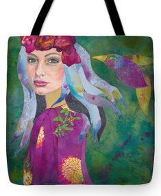 this beauty is lovinlg made from hand painted textiles and colored pencil on canvas Old Pillows, Quirky Gifts, Hippie Art, Free Prints, Begonia, Fabric Scraps, Scarlet, Peace And Love, New Art