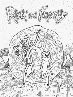 Rick and Morty Coloring Pages   Rick and morty, Coloring ...