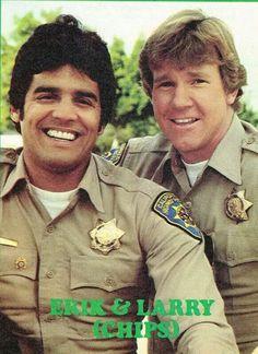 Erik Estrada & Larry Wilcox. Larry Wilcox, 80 Tv Shows, Cop Show, Cinema, Old Tv, Classic Tv, Disney Pictures, Favorite Tv Shows, Childhood Memories