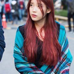 - All For Hair Color Trending Iu Hair, Kpop Hair, Hair Color Pink, Cool Hair Color, Dyed Red Hair, Ombre Hair, Asian Red Hair, Beautiful Red Hair, Girls With Red Hair
