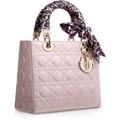 LADY DIOR Foulard-coloured leather 'Lady Dior' bag with leopard-print... ❤ liked on Polyvore